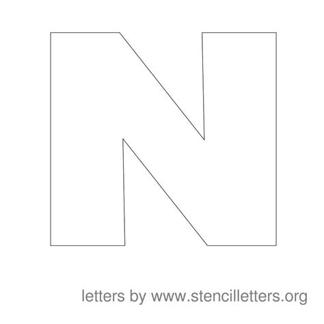 large letter templates 5 best images of large printable letter n large letter n template large printable size