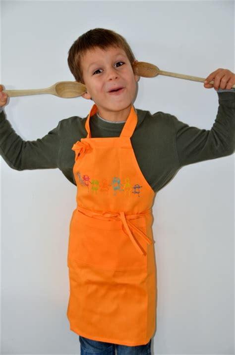 tablier cuisine enfants tablier cuisine pour petit garçon ou fille orange