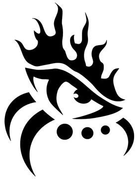 tribal eye tattoos  tribal