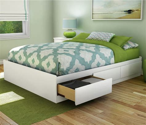 Beds With Drawers by Platform Bed Frame Size With 3 Storage Drawers Wood