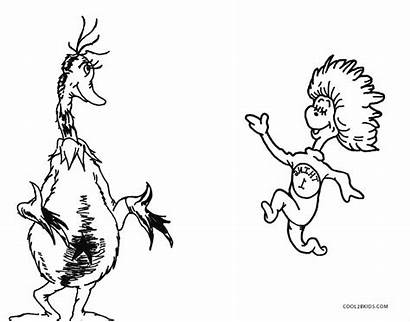 Seuss Coloring Dr Pages Zoo Put Printable