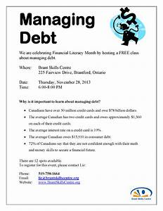 Financial Literacy Month – Managing Debt Workshop – Brant ...