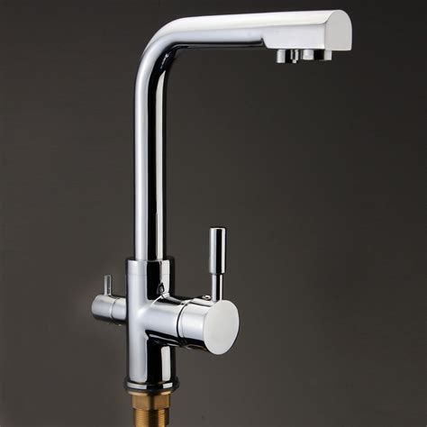 kitchen sink water filter faucet 3 way dual handles kitchen sink faucet pure water filter