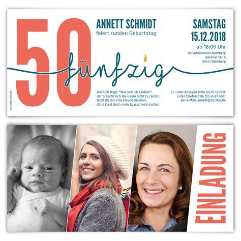 Die Einladung Zu Einem Runden Geburtstag by Einladung Runder Geburtstag 50 Jahre Einladungskarten