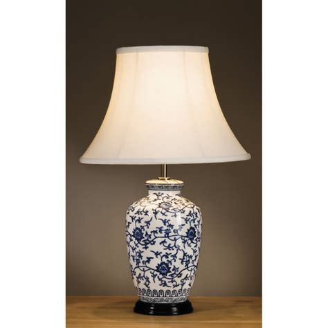 ginger jar table ls oriental style blue and white ginger jar l a classical