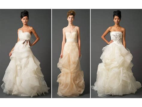 Vera Wangs Tulle And Power Netting 2011 Wedding Dresses