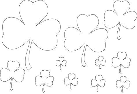 printable shamrock coloring pages  kids
