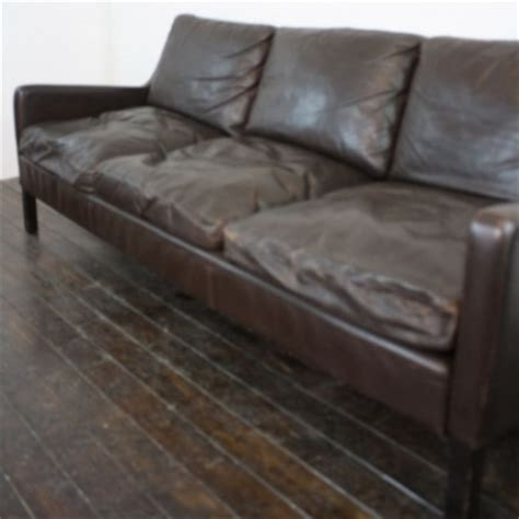 down filling for sofa cushions mogensen style 3 seater dark brown leather sofa with down