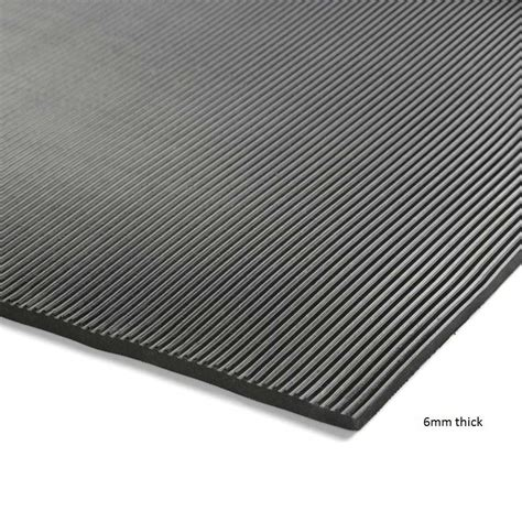 ribbed rubber electrical safety matting mm  mm thick