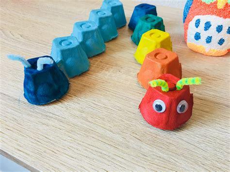basteln mit eierpappen raupen aus eierkarton basteln mit kindern der familienblog f 252 r kreative eltern