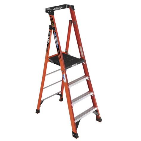 home depot lawn furniture shop werner 7 ft fiberglass type 1a 300 lbs platform ladder at lowes com