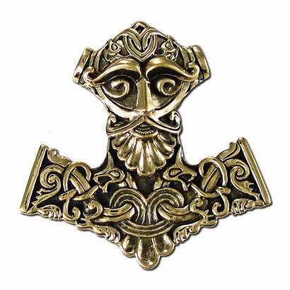 Thor Hammer Pendant Norse God Bronze Viking