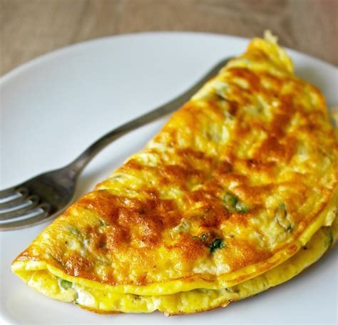 Large Kitchen Ideas - greek omelette with feta cheese and fresh mint