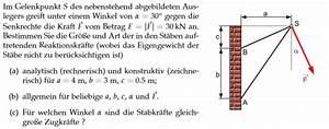 Vektoren Geschwindigkeit Berechnen : stabkraft gelenkpunkt s des abgebildeten auslegers vektorrechnung und nanolounge ~ Themetempest.com Abrechnung