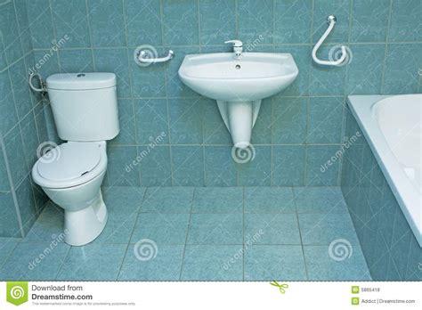 modern bathroom  green floor tiles stock photo image