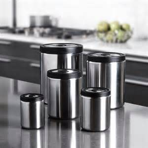 stainless steel kitchen canister sets win this steel presstop canister set from oxo giveaway 2011