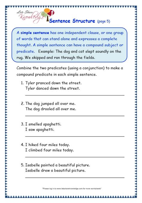 all worksheets 187 sentence combining worksheets printable