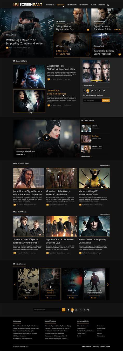 Screen Rant: Movies & TV News - Web Design by Loris ...