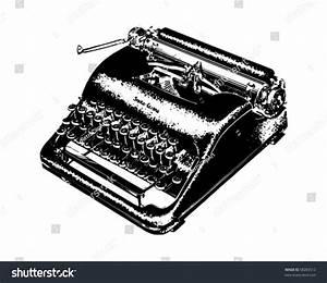 Manual Typewriter Retro Clip Art Stock Vector 58283512