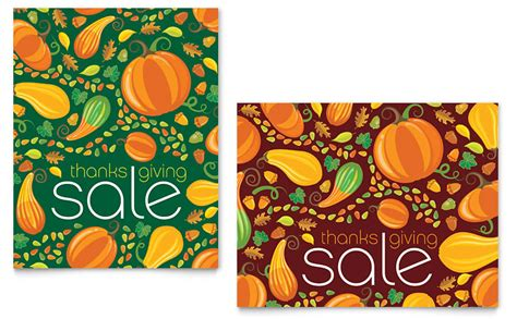 thanksgiving harvest sale poster template word publisher