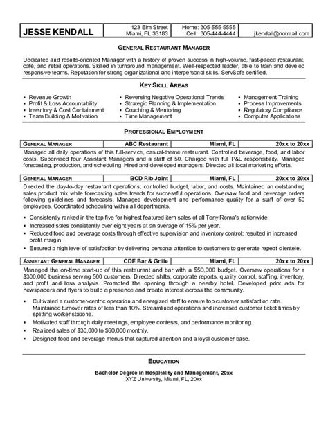 restaurant manager resume objective printable planner