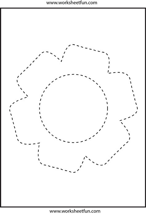 picture tracing flower  worksheet  printable