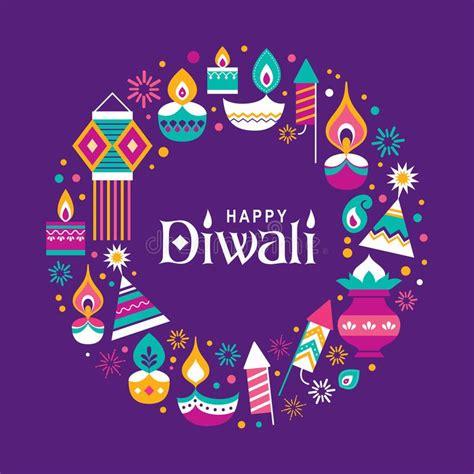 happy diwali diwali hindu festival greeting card