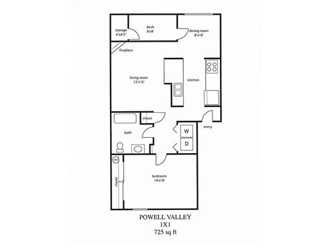 1 Bedroom Apartment Floor Plans by Floor Plans For Powell Valley Farms Apartments In Gresham