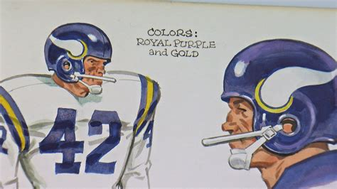 when did get color how did the vikings get their colors 171 wcco cbs minnesota
