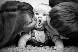 love family relationships parents baby cute kiss surprise ...