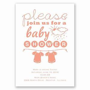 please join us twins baby shower invitation invitations With wedding invitation wording please join us
