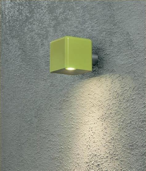 bright green wall light led exterior wall light in square design