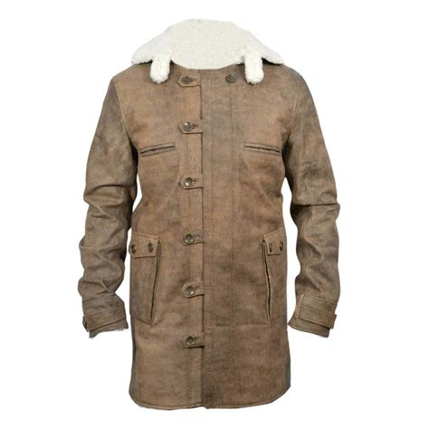 Cowhide Jackets by New Bane Coat Distressed Brown Genuine Cowhide Leather