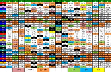 nfl schedule nfl  playoff schedule nflcom