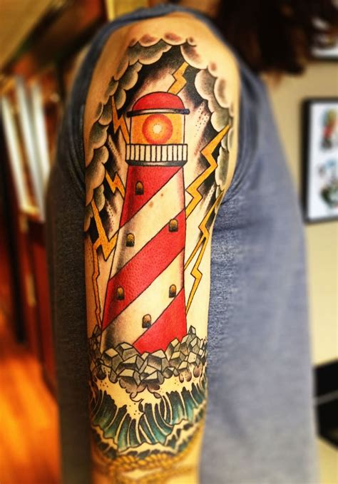 stylish sailor jerry shoulder tattoos