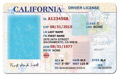 california drivers license template google search