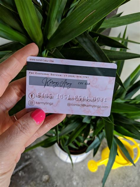 plastic credit card business cards  embossed numbers