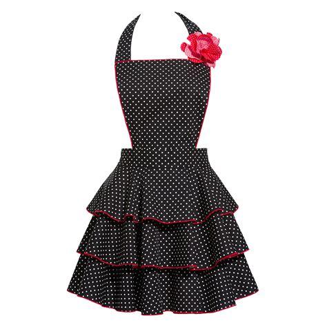 what is an apron petite dot party black apron retro hostess aprons