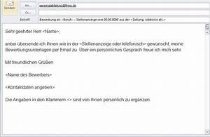 Online bewerbung mit email oder formular bewerben for Bewerbung email text muster