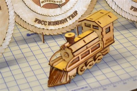 laser cut train   birch wood laser  pinterest
