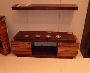 Meuble Bois Exotique : meuble tv haut bois exotique ~ Premium-room.com Idées de Décoration