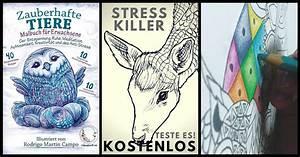 ANTI STRESS Malbuch Fr Erwachsene Zauberhafte Tiere