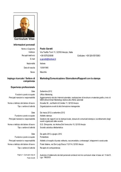Cv Europass Model Completat Manager Example Good Resume