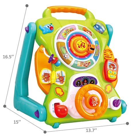 toys walkers month olds year gift table activity center sit stand birthday walker