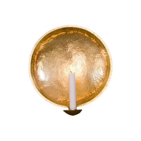 swedish light the royal wall sconce hand hammered brass