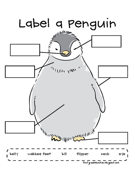 quot label a penguin quot worksheet teaching science animals