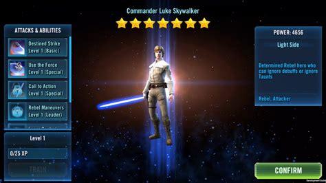 commander luke skywalker arrives  star wars galaxy