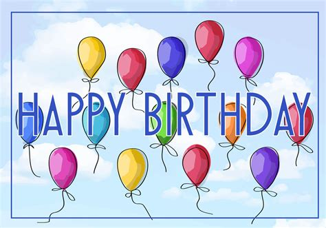 Free Vector Illustration of a Happy Birthday Greeting Card ...