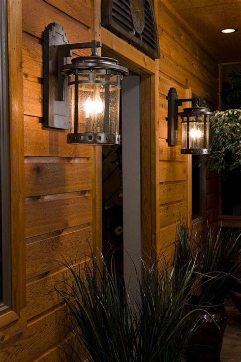 rustic outdoor lighting spaces rustic with bronze outdoor lighting cabin outdoor lights