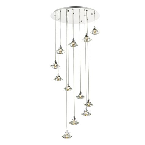 spiral pendant ceiling light 12 light spiral pendant with crystal glass g9 l